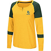 Colosseum Women's Baylor Bears Gold Dorothy Long Sleeve Raglan T-Shirt