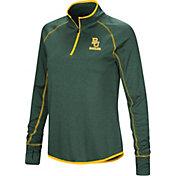 Colosseum Women's Baylor Bears Green Shark Quarter-Zip Shirt