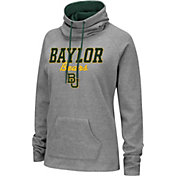 Colosseum Women's Baylor Bears Grey Funnel-Neck Pullover Sweatshirt