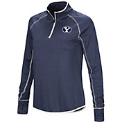 Colosseum Women's BYU Cougars Blue Shark Quarter-Zip Shirt