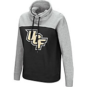 Colosseum Women's UCF Knights Black/Grey The Talk Funnel-Neck Pullover