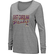 Colosseum Women's East Carolina Pirates Grey Tri-Blend Long Sleeve T-Shirt
