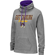 Colosseum Women's East Carolina Pirates Grey Funnel-Neck Pullover Sweatshirt