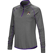 Colosseum Women's East Carolina Pirates Grey Shark Quarter-Zip Shirt