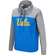 Colosseum Women's UCLA Bruins True Blue/Grey The Talk Funnel-Neck Pullover