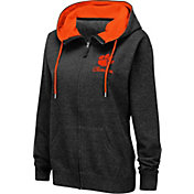 Colosseum Women's Clemson Tigers Full-Zip Black Hoodie