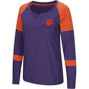 Colosseum Women's Clemson Tigers Purple Dorothy Long Sleeve Raglan T-Shirt
