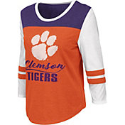 Colosseum Women's Clemson Tigers Orange ¾ Sleeve Raglan T-Shirt