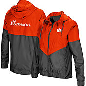 Colosseum Women's Clemson Tigers Orange/Grey First Class Windbreaker Jacket