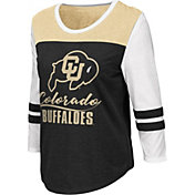 Colosseum Women's Colorado Buffaloes ¾ Sleeve Raglan Black T-Shirt