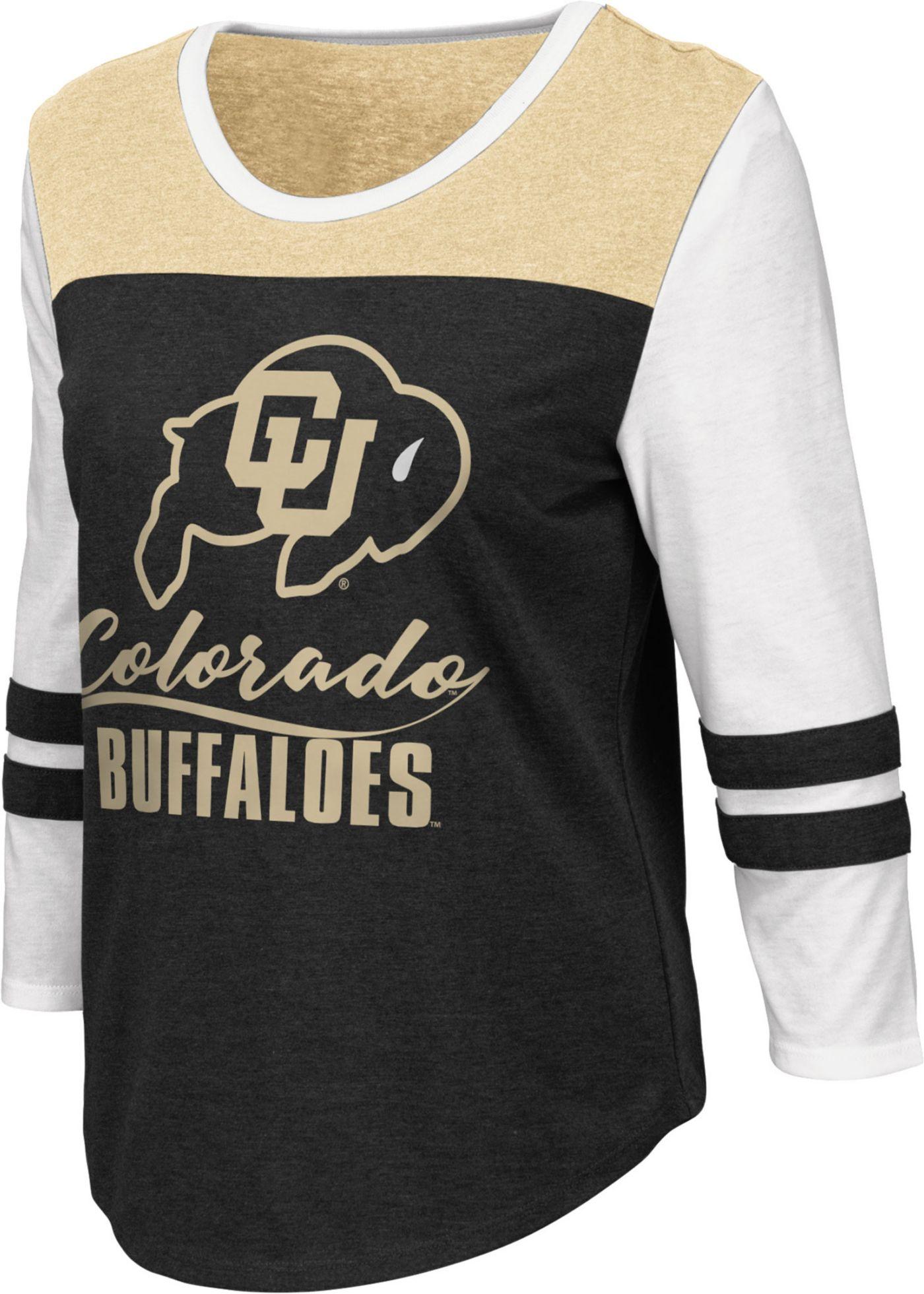 Colosseum Women's Colorado Buffaloes ¾ Sleeve Raglan Black T-Shirt