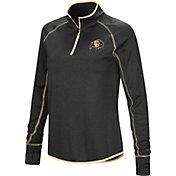 Colosseum Women's Colorado Buffaloes Shark Quarter-Zip Black Shirt