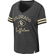 Colosseum Women's Colorado Buffaloes Savona V-Neck Black T-Shirt