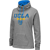 Colosseum Women's UCLA Bruins Grey Funnel-Neck Pullover Sweatshirt