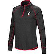 Colosseum Women's Cincinnati Bearcats Shark Quarter-Zip Black Shirt