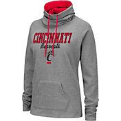 Colosseum Women's Cincinnati Bearcats Grey Funnel-Neck Pullover Sweatshirt
