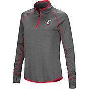 Colosseum Women's Cincinnati Bearcats Grey Shark Quarter-Zip Shirt
