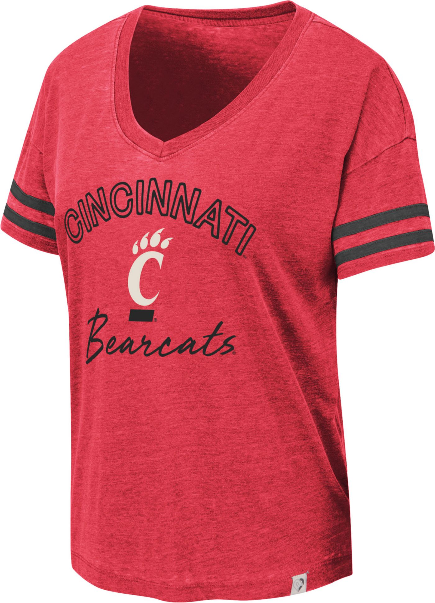 Colosseum Women's Cincinnati Bearcats Red Savona V-Neck T-Shirt