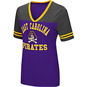 Colosseum Women's East Carolina Pirates Purple/Grey The Whole Package T-Shirt