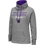 Colosseum Women's Central Arkansas Bears  Grey Funnel-Neck Pullover Sweatshirt