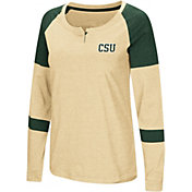Colosseum Women's Colorado State Rams Gold Dorothy Long Sleeve Raglan T-Shirt