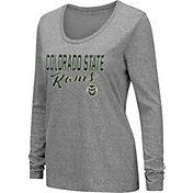 Colosseum Women's Colorado State Rams Grey Tri-Blend Long Sleeve T-Shirt