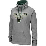 Colosseum Women's Colorado State Rams Grey Funnel-Neck Pullover Sweatshirt