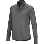 Colosseum Women's Colorado State Rams Grey Shark Quarter-Zip Shirt