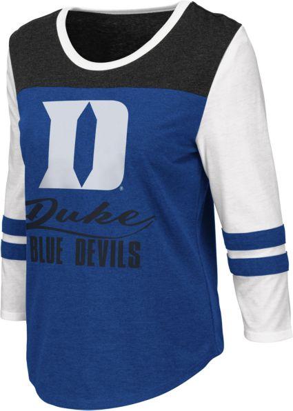 Colosseum Women s Duke Blue Devils Duke Blue ¾ Sleeve Raglan T-Shirt ... 5a2a5b1abe
