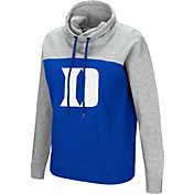 Colosseum Women's Duke Blue Devils Duke Blue/Grey The Talk Funnel-Neck Pullover