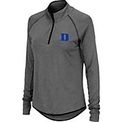 Colosseum Women's Duke Blue Devils Grey Quarter-Zip Shirt