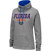 Colosseum Women's Florida Gators Grey Funnel-Neck Pullover Sweatshirt