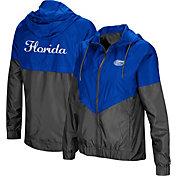 Colosseum Women's Florida Gators Blue/Grey First Class Windbreaker Jacket