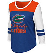 Colosseum Women's Florida Gators Blue ¾ Sleeve Raglan T-Shirt