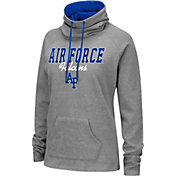 Colosseum Women's Air Force Falcons Grey Funnel-Neck Pullover Sweatshirt