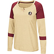 Colosseum Women's Florida State Seminoles Gold Dorothy Long Sleeve Raglan T-Shirt