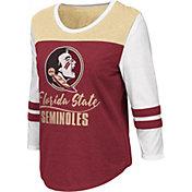 Colosseum Women's Florida State Seminoles Garnet ¾ Sleeve Raglan T-Shirt