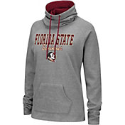 Colosseum Women's Florida State Seminoles Grey Funnel-Neck Pullover Sweatshirt