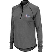 Colosseum Women's Gonzaga Bulldogs Grey Quarter-Zip Shirt
