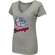 Colosseum Women's Gonzaga Bulldogs Grey Dual Blend V-Neck T-Shirt