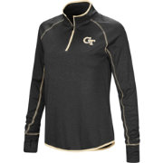 Colosseum Women's Georgia Tech Yellow Jackets Shark Quarter-Zip Black Shirt