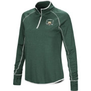 Colosseum Women's Ohio Bobcats Green Shark Quarter-Zip Shirt