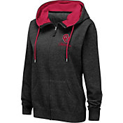 Colosseum Women's Oklahoma Sooners Full-Zip Black Hoodie