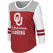 Colosseum Women's Oklahoma Sooners Crimson ¾ Sleeve Raglan T-Shirt