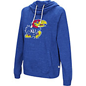 Colosseum Women's Kansas Jayhawks Blue I'll Go With You Pullover Hoodie