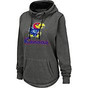 Colosseum Women's Kansas Jayhawks Grey Pullover Hoodie