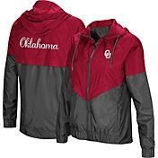 Colosseum Women's Oklahoma Sooners Crimson/Grey First Class Windbreaker Jacket