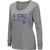 Colosseum Women's Kansas State Wildcats Grey Tri-Blend Long Sleeve T-Shirt