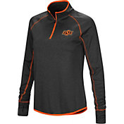 Colosseum Women's Oklahoma State Cowboys Shark Quarter-Zip Black Shirt