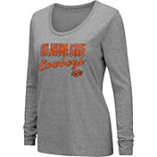 Colosseum Women's Oklahoma State Cowboys Grey Tri-Blend Long Sleeve T-Shirt